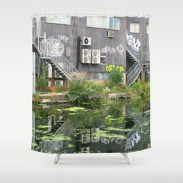Hackney Reflection Shower Curtain