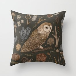Harvest Owl Throw Pillow