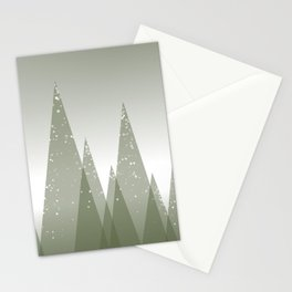 Green Abstract Forest Stationery Cards