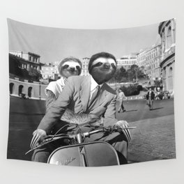 Sloth in Roman Holiday Wall Tapestry