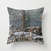 ducks Throw Pillows featuring Ducks by Italo Martins