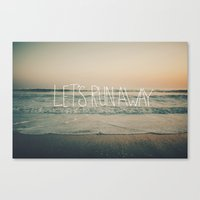 leah flores Canvas Prints featuring Let's Run Away by Laura Ruth and Leah Flores  by Laura Ruth