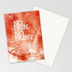No Pain, No paint Stationery Cards