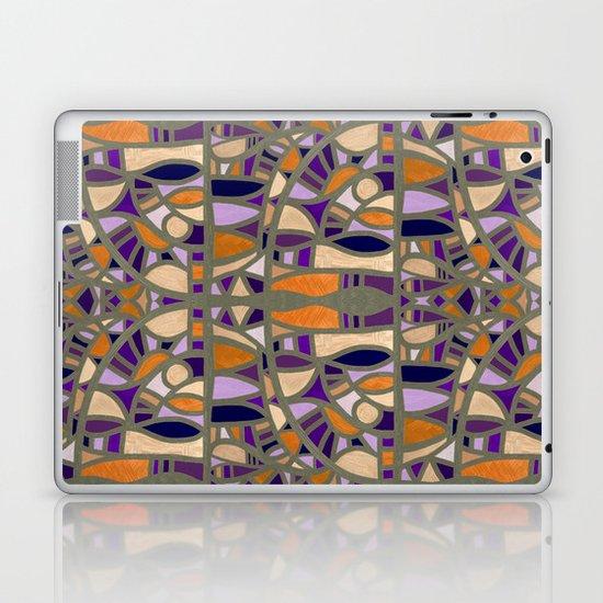 Gaudy Gaudi orange & purple Laptop & iPad Skin