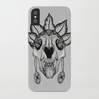 animal skull iPhone & iPod Cases featuring Animal skull by SilviaGancheva