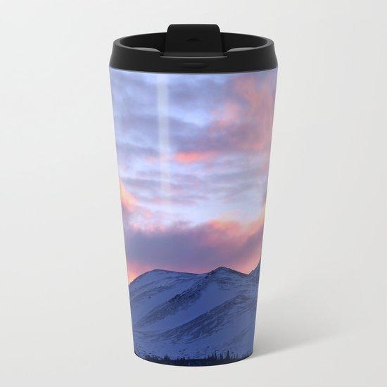 Rose Serenity Sunrise - II Metal Travel Mug