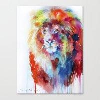lion Canvas Prints featuring Lion by Slaveika Aladjova