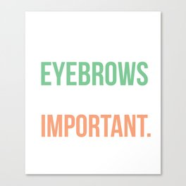 Womens Eyebrows Grooming Trimming Waxing Threading Canvas Print