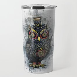 Steampunk Owl Travel Mug