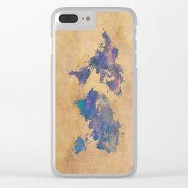 world map 92  #worldmap #map #world Clear iPhone Case