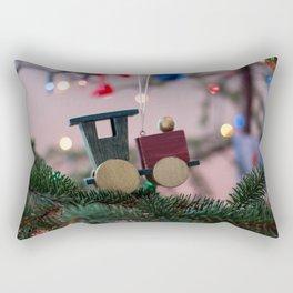 Train Engine Ornament Photography Print Rectangular Pillow