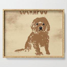 Cockapoo Dog Art Serving Tray