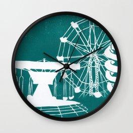 Seaside Fair in Turquoise Wall Clock