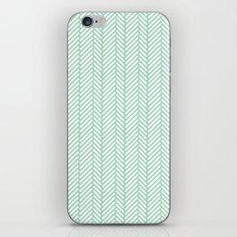 Herringbone Mint iPhone Skin