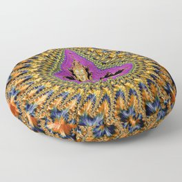 Buddha Mandelbrot Set Floor Pillow