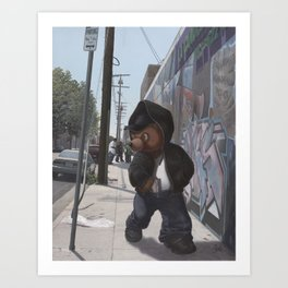 Gangsta Teddy Art Print