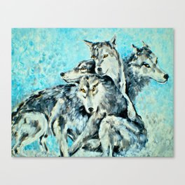 Our Brothers, the Wolves Canvas Print