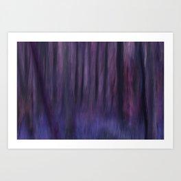 Painted Trees 2 Purples Art Print