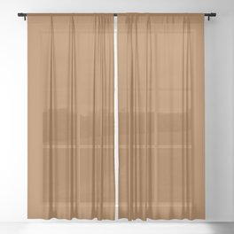 Coffee Sheer Curtain