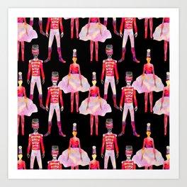 Nutcracker Ballet - Black Art Print