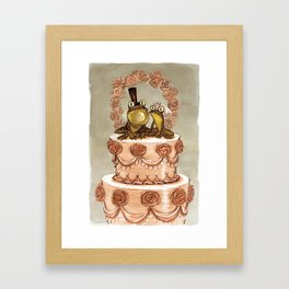 Frog Wedding Framed Art Print