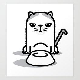 Mad Hungry Cat Art Print