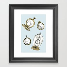 Clocks Framed Art Print