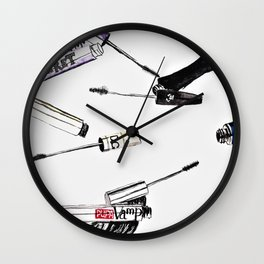 EyeLashes Mascara Wall Clock