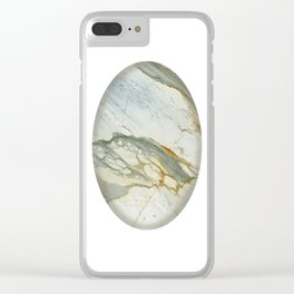 Classic Italian Marble Clear iPhone Case