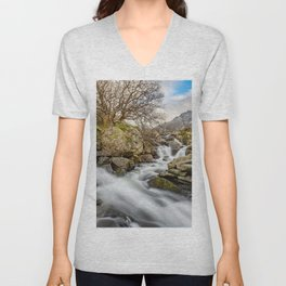 Trfan Mountain Rapids Unisex V-Neck