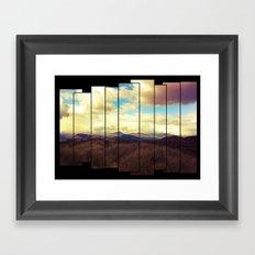 Fractured Landscape Framed Art Print