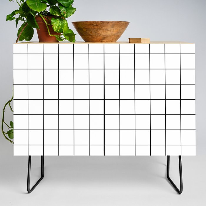 Grid Simple Line White Minimalistic Credenza by beautifulhomes ...