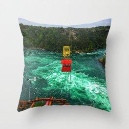 Whirlpool Aero Car over Niagara Gorge Throw Pillow