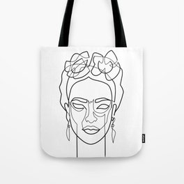 Woman Hair Dos Drawing in One Line Tote Bag