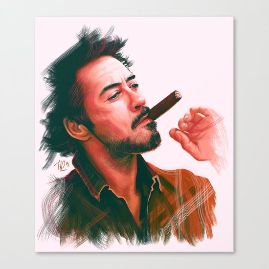 Mr Downey, Jr. Canvas Print
