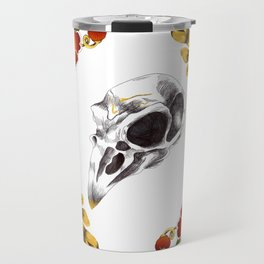 Aves and flowers Travel Mug