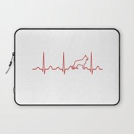 German Shepherd Heartbeat Laptop Sleeve