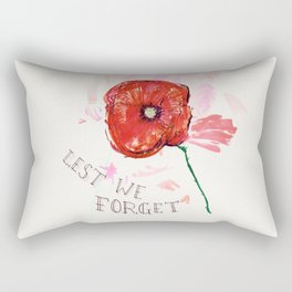 Lest We Forget Rectangular Pillow