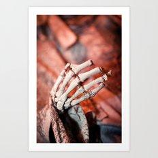 Broken Fingers Form Broken Chords Art Print