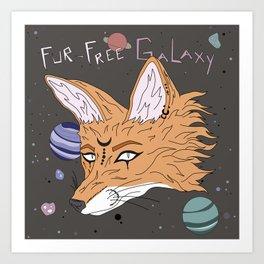 Fur-Free Galaxy Art Print