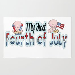 My first Fourth of July Rug