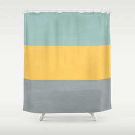 three stripes - sweet bee Shower Curtain