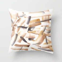180719 Koh-I-Noor Watercolour Abstract 23| Watercolor Brush Strokes Throw Pillow