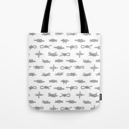 knots pattern sailing nautical knot tying illustration coastal decor Tote Bag