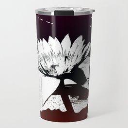 Stylized Water lily Travel Mug