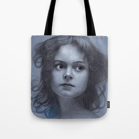 Behind greyness - pencil drawing on paperboard Tote Bag