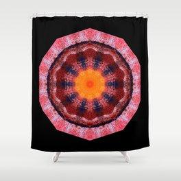 Kaleidoscope Red Shower Curtain
