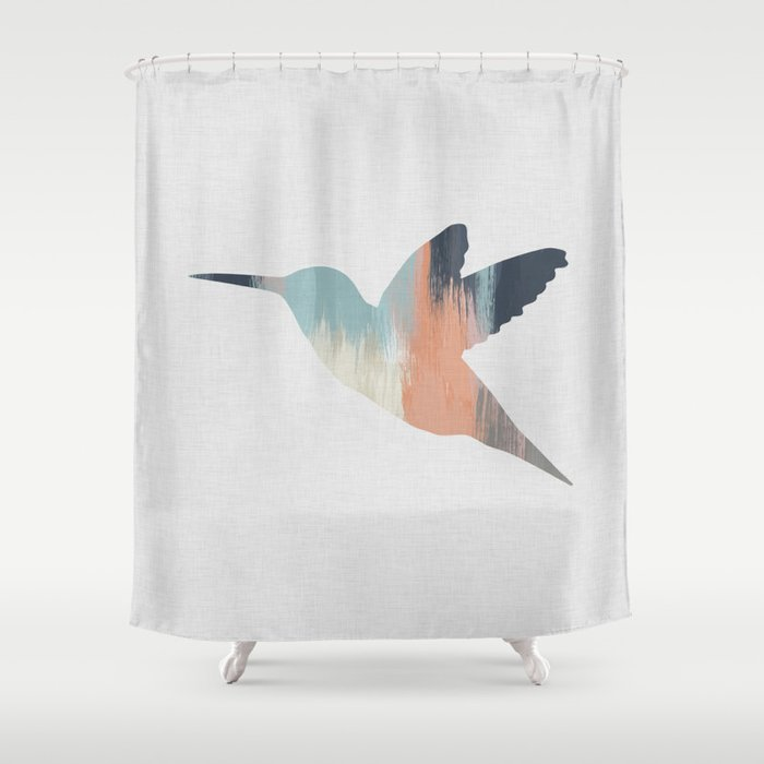 Pastel Hummingbird Shower Curtain By Paperpixelprints