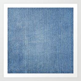 Faded Blue Denim Art Print