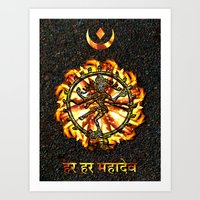 shiva Art Prints featuring Shiva  by Khana's Web